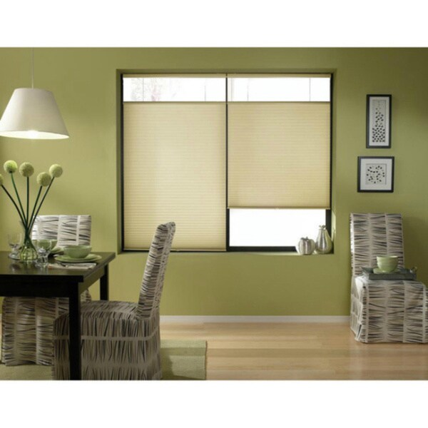First Rate Blinds Ivory Beige Cordless Top Down Bottom Up 33 to 33.5-inch Wide Cellular Shades. Opens flyout.