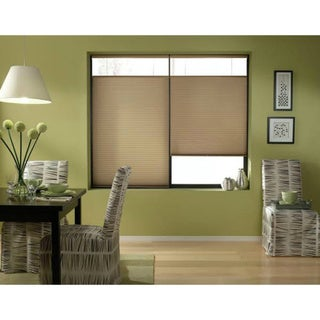 First Rate Blinds Antique Linen Cordless Top Down Bottom Up 33 to 33.5-inch Wide Cellular Shades