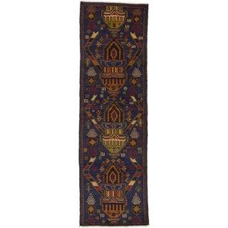 ecarpetgallery Baluch Blue Wool Rug (2'9 x 9')