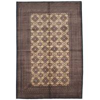 ecarpetgallery Finest Peshawar Bokhara Beige/ Green Wool Rug