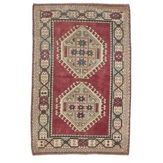 ecarpetgallery Antique Shiravan Red Wool Rug (4'3 x 6'8)