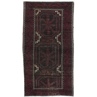 ecarpetgallery Kazak Brown/ Red Wool Rug (2'9 x 5'1)