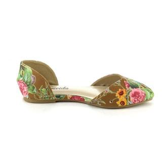 ATREVIDA ZOnIA-26 Women's Floral D'Orsay Flats
