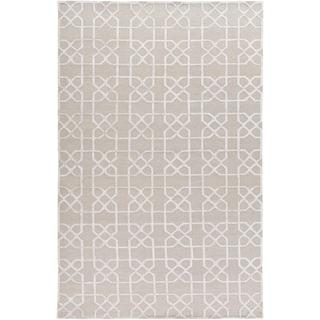 Hand-Knotted Dawlish Geometric Indoor Wool Area Rug (Taupe - 8 x 10)