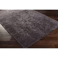 Hand-Woven Halifax Chevron Viscose Area Rug (12' x 15')