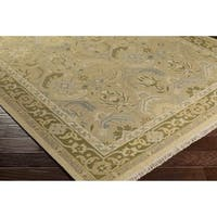 Hand-Knotted Kari Border New Zealand Wool Area Rug - 10' x 14'