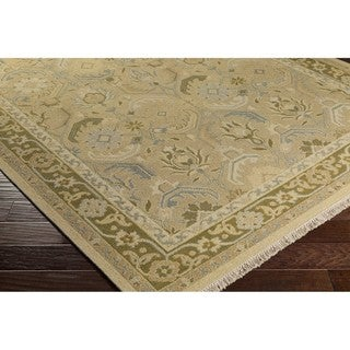 Hand-Knotted Kari Border New Zealand Wool Area Rug
