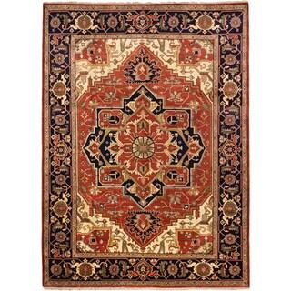 ecarpetgallery Serapi Heritage Brown Wool Rug (8'11 x 12')
