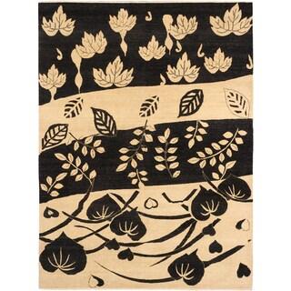 ecarpetgallery Finest Ziegler Chobi Beige/ Black Wool Rug (8'10 x 11'11)