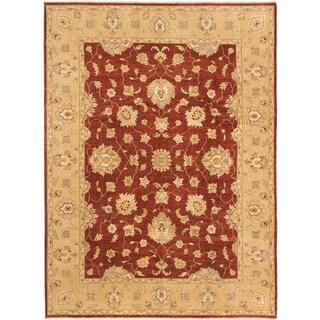 ecarpetgallery Chobi Twisted Orange Wool Rug (9' x 12')