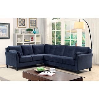 Furniture of America Sier Contemporary Flannelette Padded Sectional