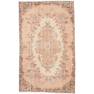 ecarpetgallery Anatolian Vintage Beige Wool Rug (5'6 x 8'10)