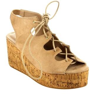 Beston EA99 Women's Lace Up Wedge Sandals