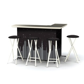 Best of Times Nightscape Portable Patio Bar with Stools