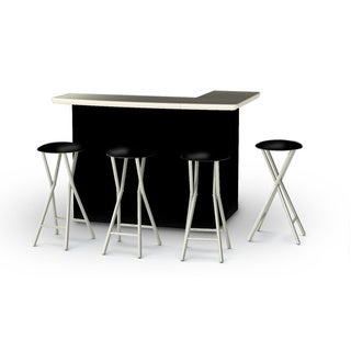 Best of Times Solid Portable Patio Bar with Stools