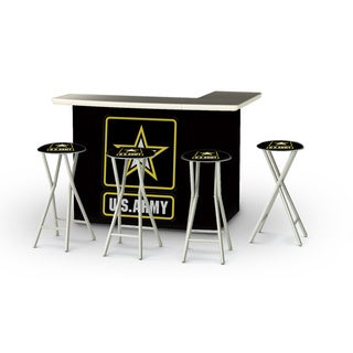 Best of Times Military Portable Patio Bar with Stools