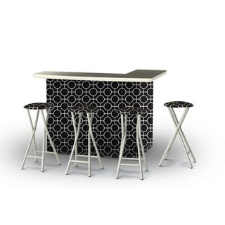 Best of Times Lewis Lattice Portable Patio Bar with Stools