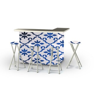 Best of Times Garden Party Portable Patio Bar with Stools