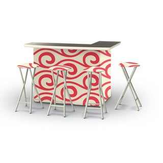 Best of Times Waves Portable Patio Bar with Stools