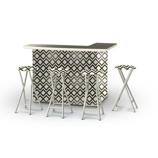 Best of Times Chevron Portable Patio Bar with Stools