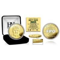 Brett Favre 2016 Pro Football HOF Induction Gold Mint Coin