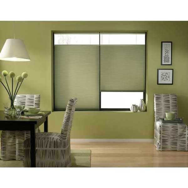 First Rate Blinds Bay Leaf Cordless Top Down Bottom Up 34 to 34.5-inch Wide Cellular Shades