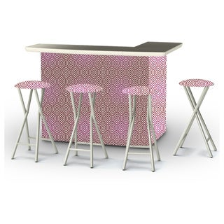 Best of Times Diamond Effect Portable Patio Bar with Stools
