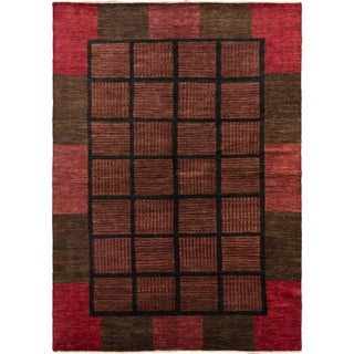 ecarpetgallery Finest Ziegler Chobi Black/ Red Wool Rug (6'6 x 9'2)