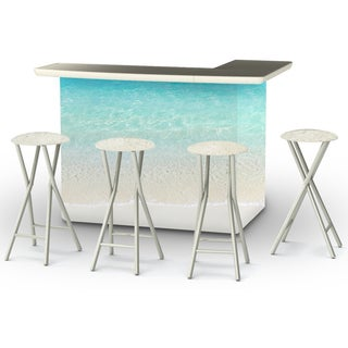 Best of Times Sand Bar Portable Patio Bar with Stools