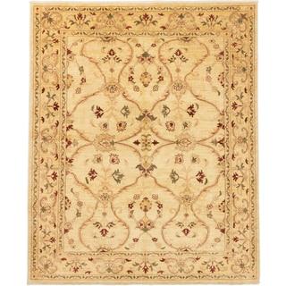 ecarpetgallery Chobi Finest Beige/ Yellow Wool Rug (8'4 x 9'9)