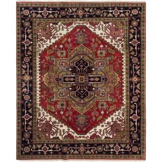 ecarpetgallery Serapi Heritage Red Wool Rug (8' x 9'9)