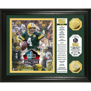 "Brett Favre 2016 Pro Football HOF Induction ""Banner"" Gold Coin Photo Mint"