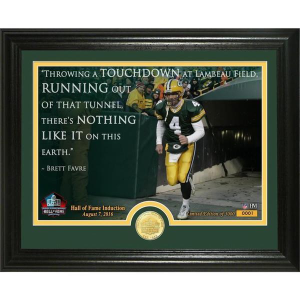 "Brett Favre 2016 Pro Football HOF Induction ""Quote"" Bronze Coin Photo Mint"