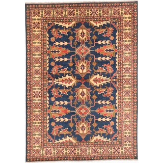 ecarpetgallery Finest Kargahi Blue Wool Rug (6'9 x 9'5)