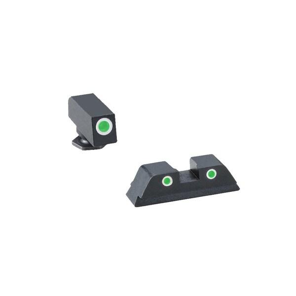 Ameriglo Classic Tritium 3-Dot Green Sight Set
