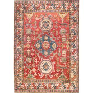 ecarpetgallery Finest Gazni Red Wool Rug (6'10 x 10')