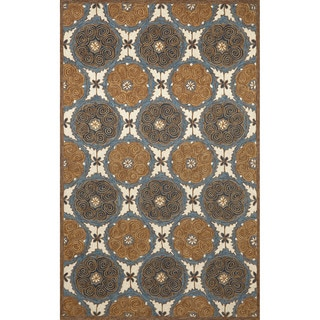Embellished Circles Outdoor Rug (3'6 x 5'6)