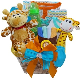 Jessie the Giraffe Baby Neutral Boy or Girl Gift Basket