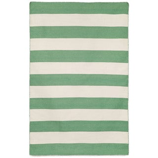 Wide Stripe Outdoor Rug (8'3 x 11'6)