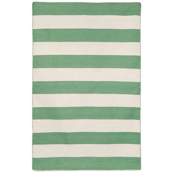 Wide Stripe Outdoor Rug (8'3 x 11'6)