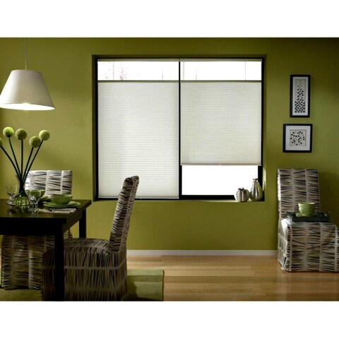 First Rate Blinds Cool White Cordless Top Down Bottom Up 35 to 35.5-inch Wide Cellular Shades