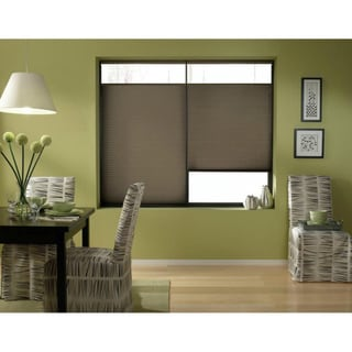 Espresso Cordless Top Down Bottom Up 35 to 35.5-inch Wide Cellular Shades