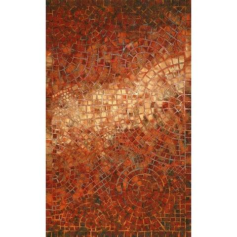Liora Manne Deco Mosaic Outdoor Rug (8' x 10') - 8' x 10'