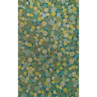 Big Spiral Outdoor Rug (8' x 10') - 8' x 10'