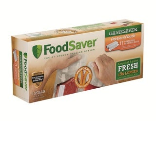FoodSaver GameSaver Portion Pouch Heat-Seal 2 Pack 11inX16ft