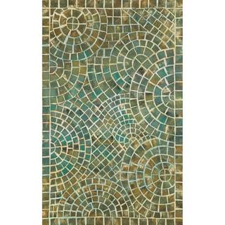 Deco Mosaic Outdoor Rug (3'6 x 5'6) - 3'6 x 5'6
