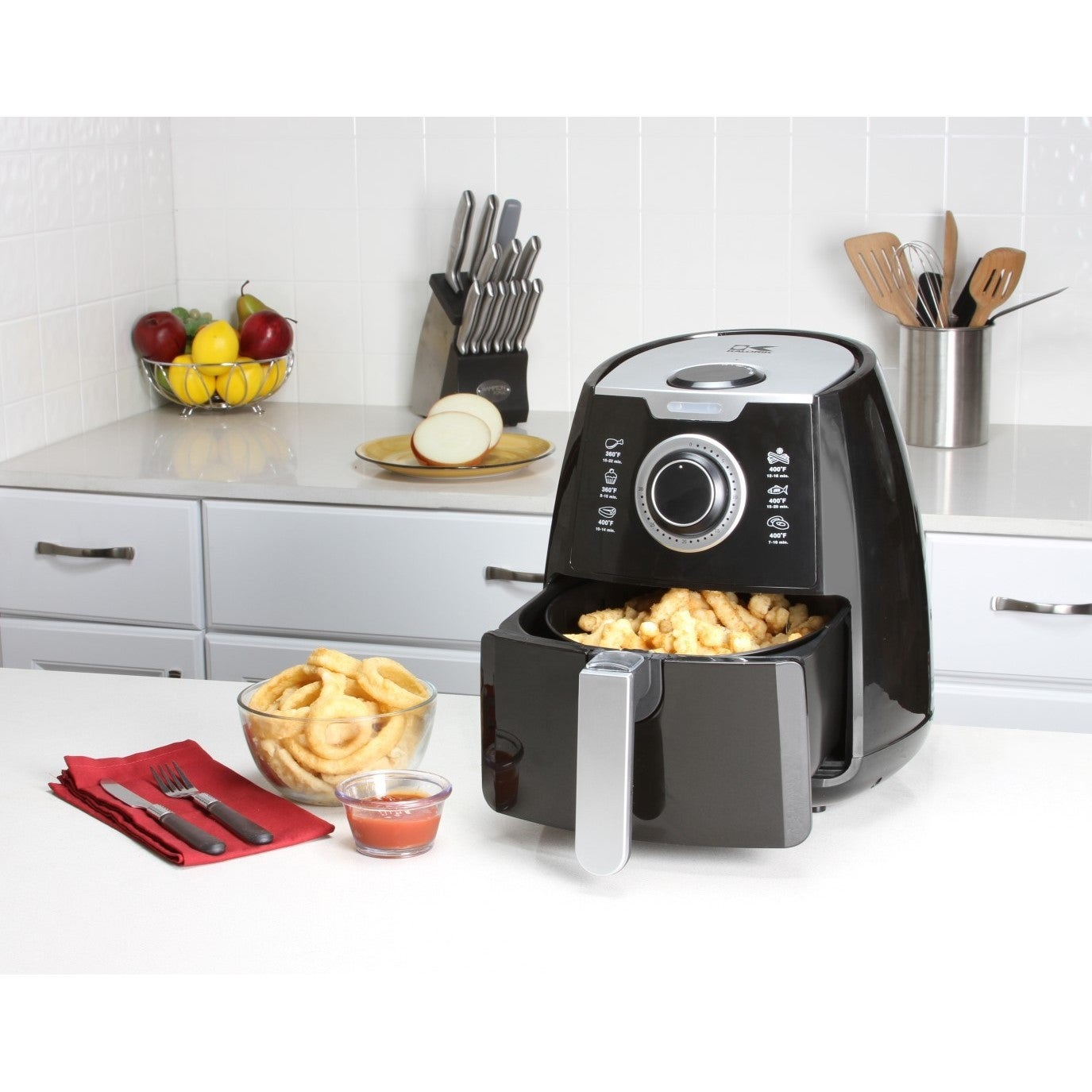 Kalorik Black Airfryer with Dual Layer Rack (Black) (Metal)