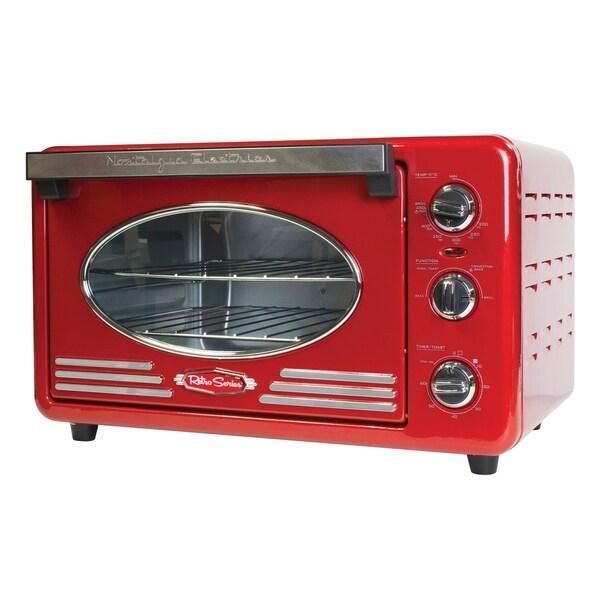 Nostalgia RTOV220RETRORED Retro 12-Slice Convection Toaster Oven