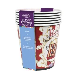 Nostalgia PPB600 4-Quart Popcorn Buckets, 6 Pack