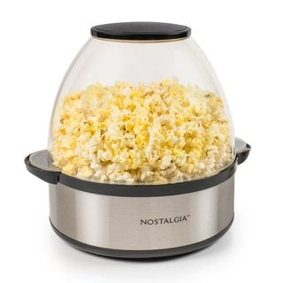Nostalgia SP660SS Stainless Steel Stir-Pop 6-Quart Popcorn Popper